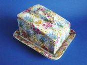 Early Grimwades Royal Winton 'Marguerite' Chintz Cheese Dish c1928